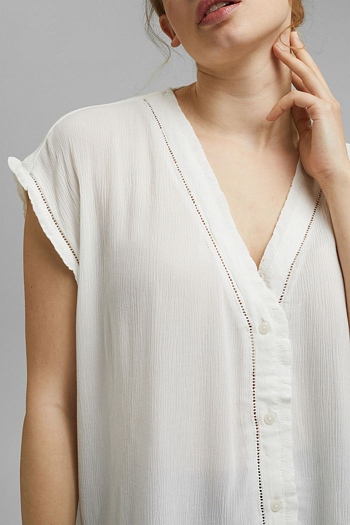 CURVY Crinkle-Bluse aus LENZING™ ECOVERO™, OFF WHITE, detail image number 2