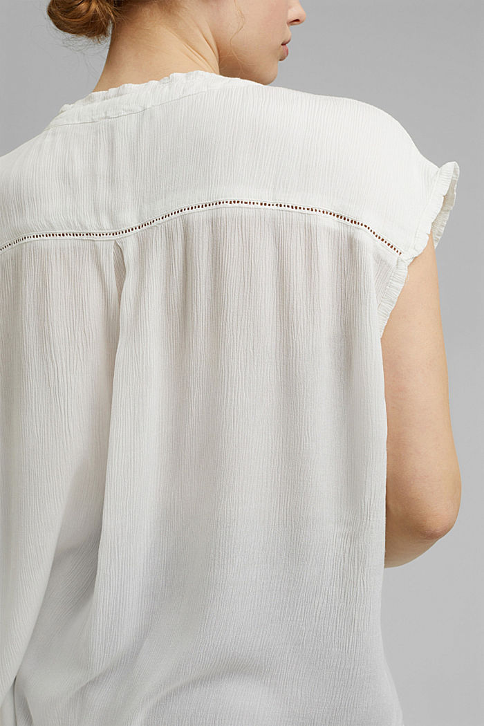 CURVY Crinkle-Bluse aus LENZING™ ECOVERO™, OFF WHITE, detail image number 5
