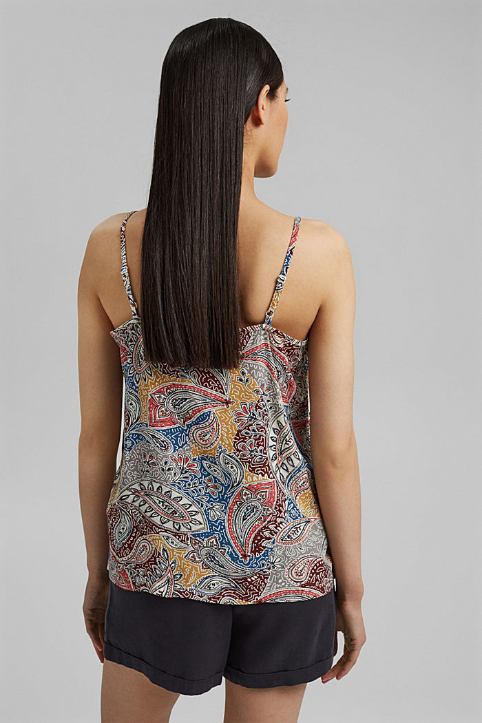 Spaghetti strap top with a paisley print, LIGHT BEIGE, detail image number 3