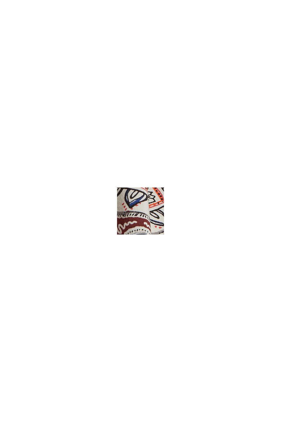 Top con spalline sottili e stampa paisley, LIGHT BEIGE, swatch
