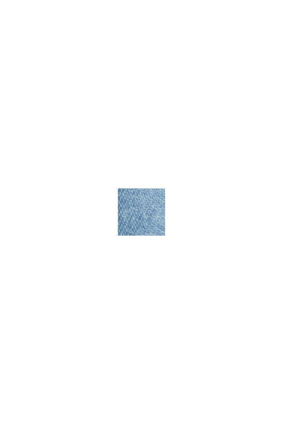 Con lino: top con acabado vaquero, BLUE LIGHT WASHED, swatch