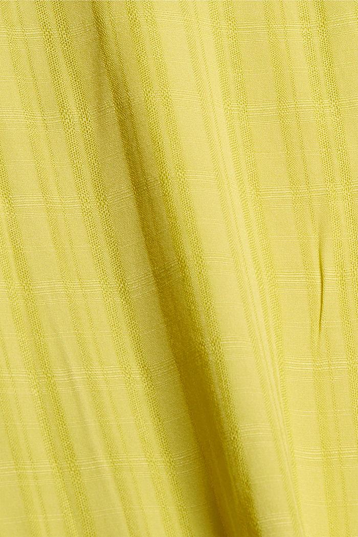 Puserotoppi LENZING™ ECOVERO™ -materiaalia, BRIGHT YELLOW, detail image number 4