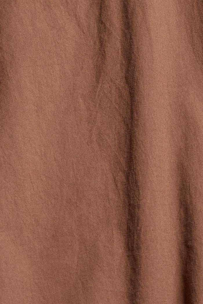 EarthColors® Hemdbluse, 100% Bio-Baumwolle, RUST BROWN, detail image number 4