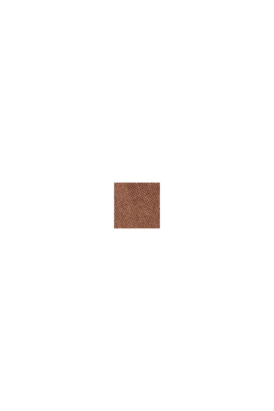 EarthColors® skjortblus, 100% ekobomull, RUST BROWN, swatch