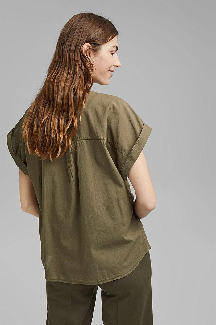 Košilová halenka barvená barvami EarthColors®, 100 % bio bavlna, OLIVE, detail image number 3