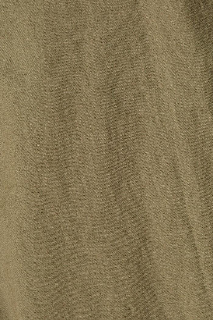 Košilová halenka barvená barvami EarthColors®, 100 % bio bavlna, OLIVE, detail image number 4