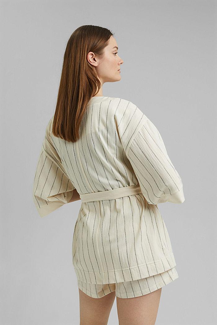 Giacca in stile kimono con cintura, OFF WHITE, detail image number 3