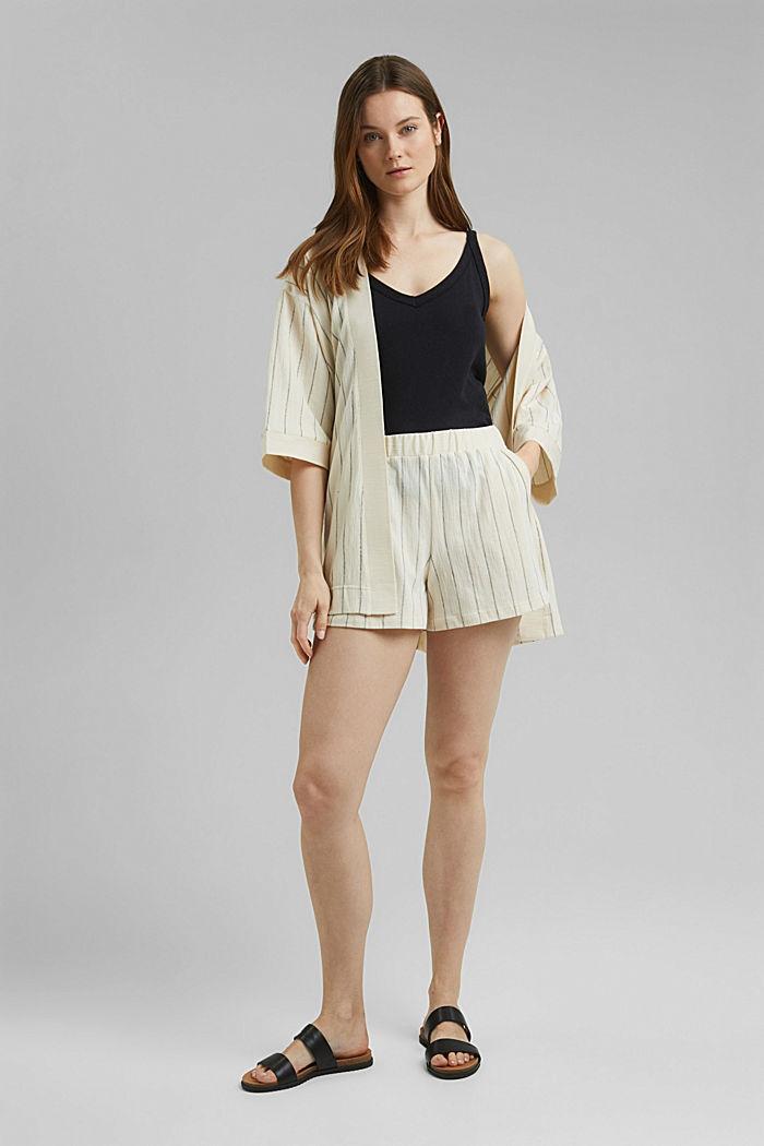 Giacca in stile kimono con cintura, OFF WHITE, detail image number 1