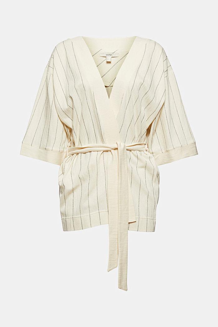 Giacca in stile kimono con cintura, OFF WHITE, detail image number 5