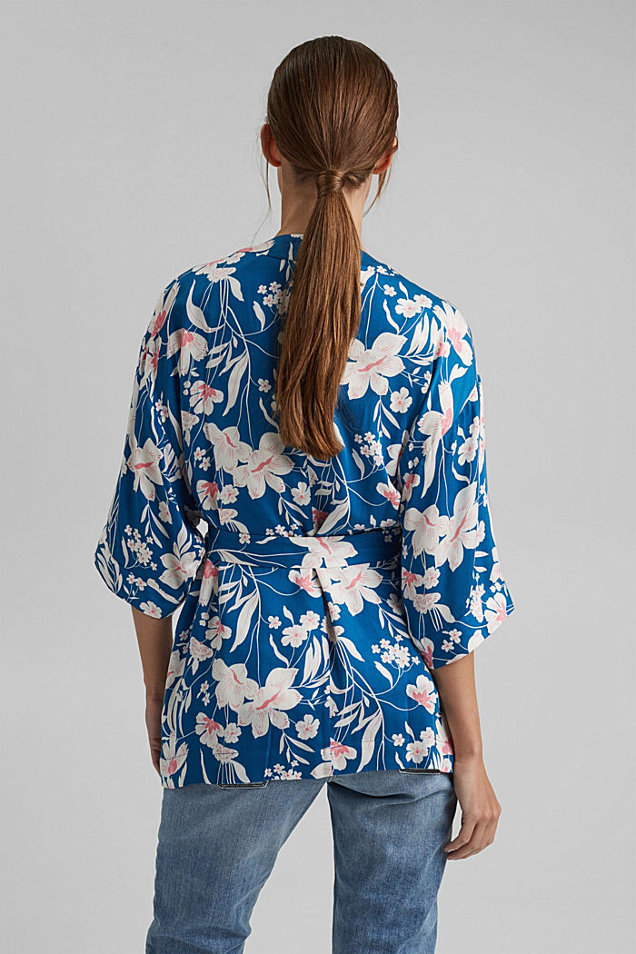 Krátké kimono z materiálu LENZING™ ECOVERO™, BRIGHT BLUE, detail image number 3