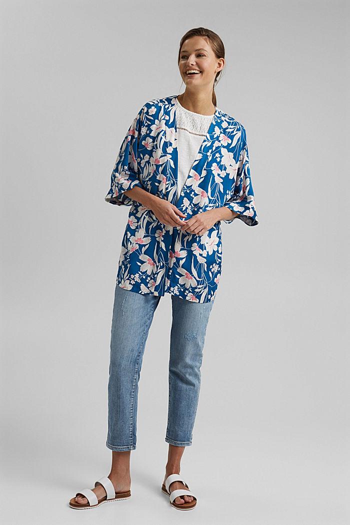 Krátké kimono z materiálu LENZING™ ECOVERO™, BRIGHT BLUE, detail image number 1