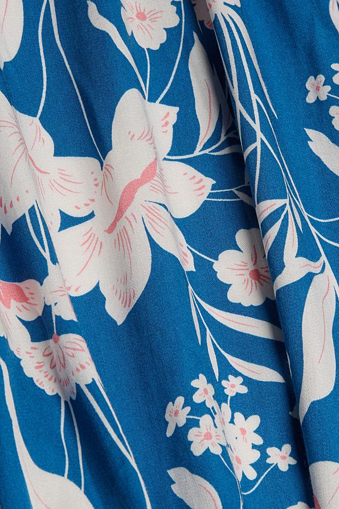 Krátké kimono z materiálu LENZING™ ECOVERO™, BRIGHT BLUE, detail image number 4