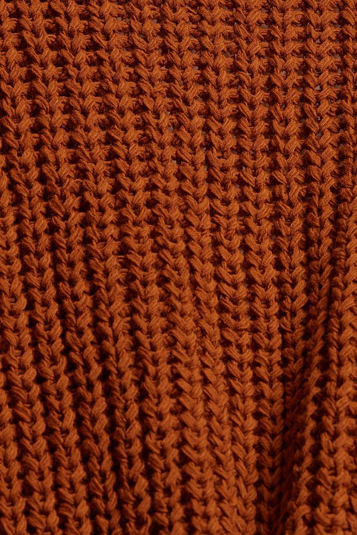 Offener Cardigan aus Bändchengarn, CARAMEL, detail image number 4