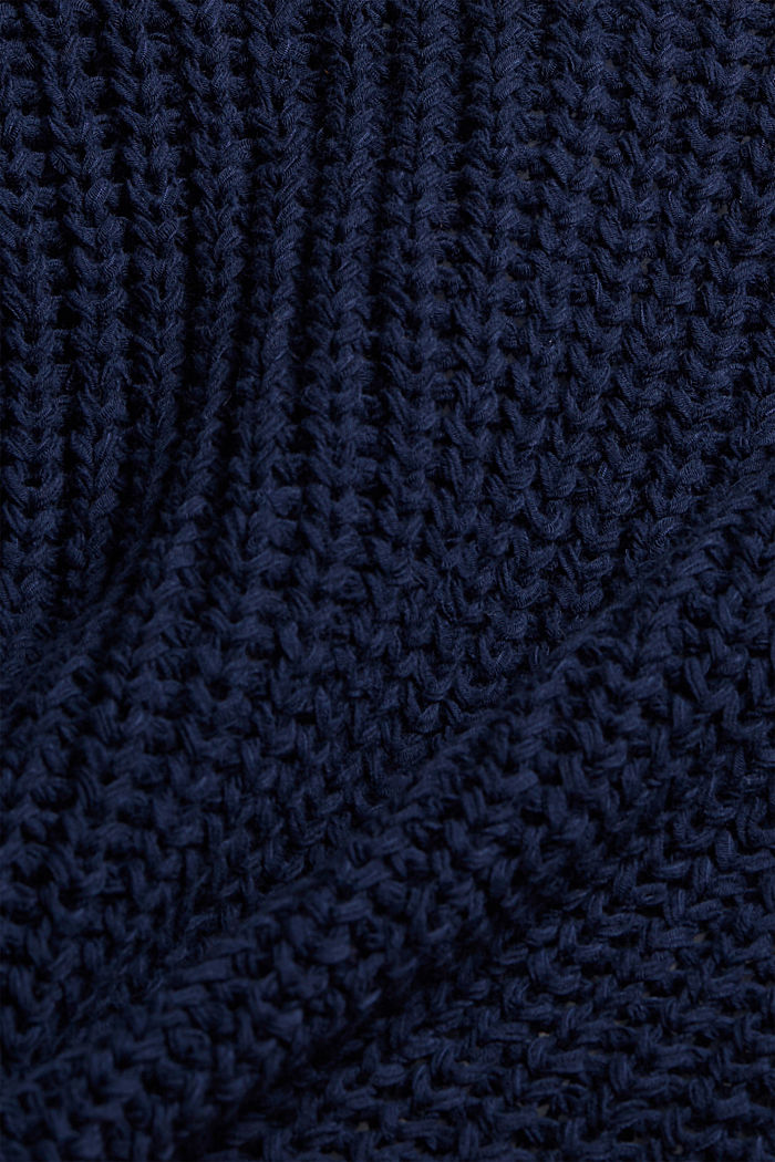 Avoin neuletakki nauhalangasta, DARK BLUE, detail image number 4