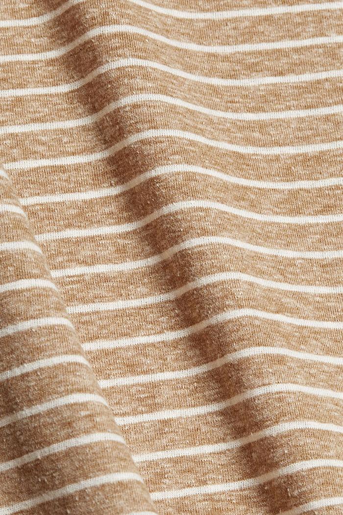 En matière recyclée: le t-shirt rayé à teneur en coton bio, CAMEL, detail image number 4
