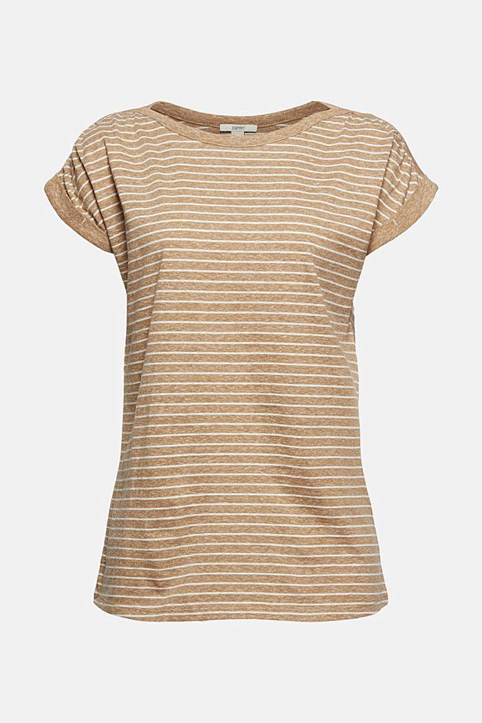 Gerecycled: gestreept T-shirt met biologisch katoen