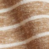 Gerecycled: gestreept T-shirt met biologisch katoen, CAMEL, swatch