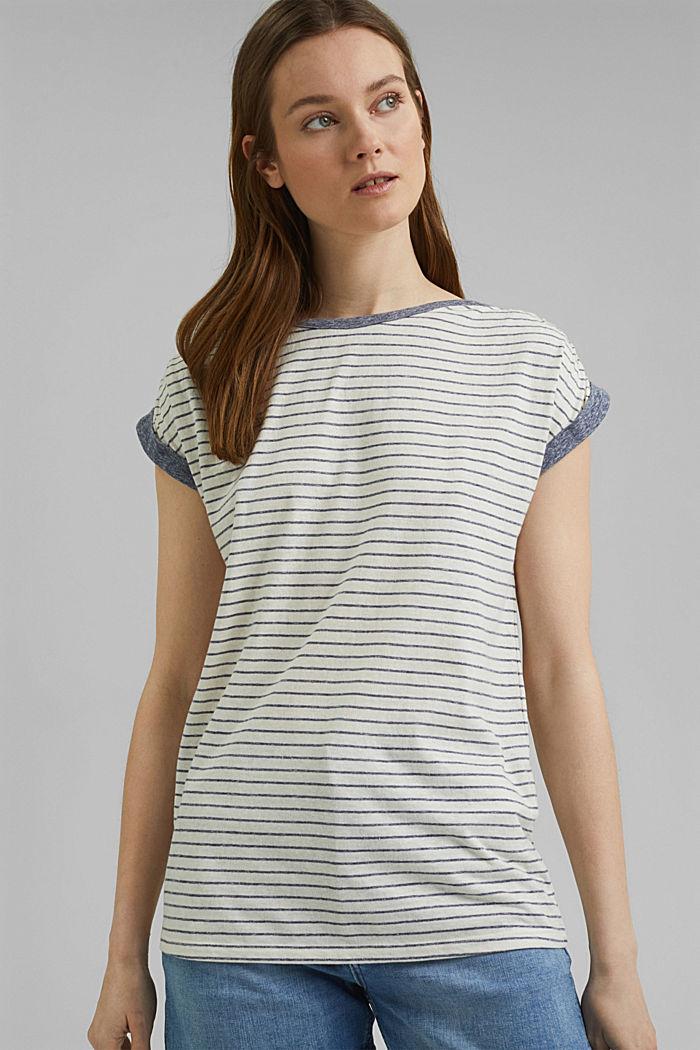 Recycelt: gestreiftes T-Shirt mit Bio-Baumwolle