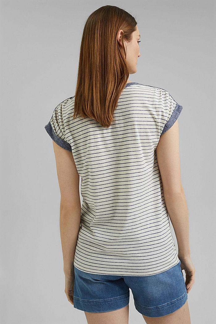Recycelt: gestreiftes T-Shirt mit Bio-Baumwolle, NAVY, detail image number 3