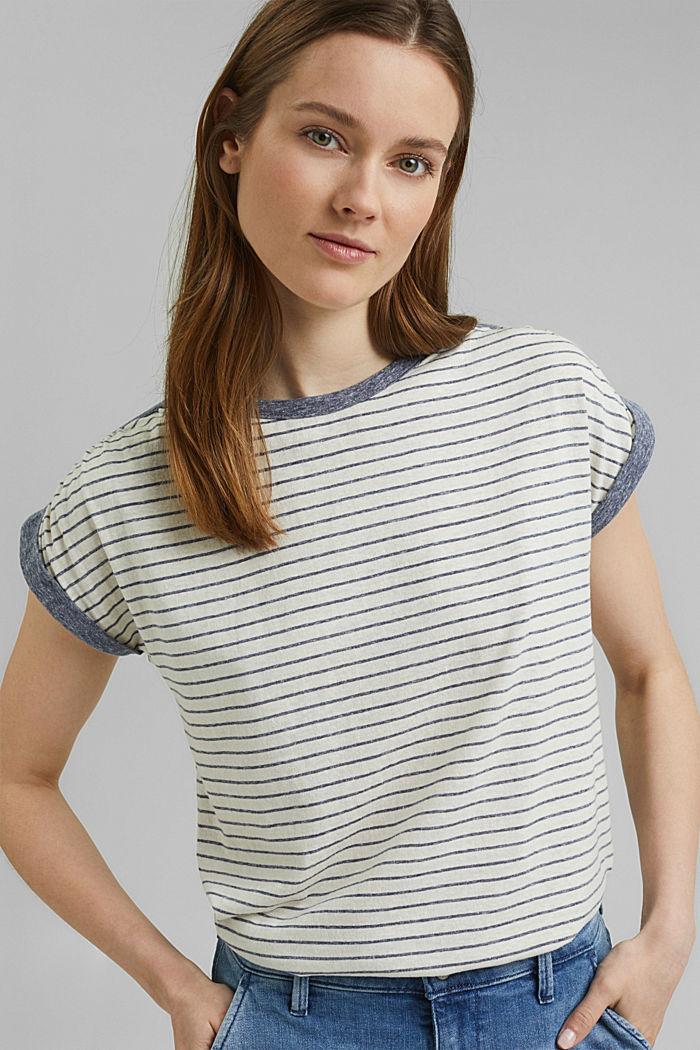 Recycelt: gestreiftes T-Shirt mit Bio-Baumwolle, NAVY, detail image number 5
