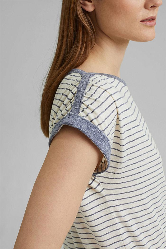 Recycelt: gestreiftes T-Shirt mit Bio-Baumwolle, NAVY, detail image number 2