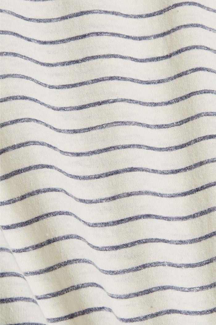 Recycelt: gestreiftes T-Shirt mit Bio-Baumwolle, NAVY, detail image number 4