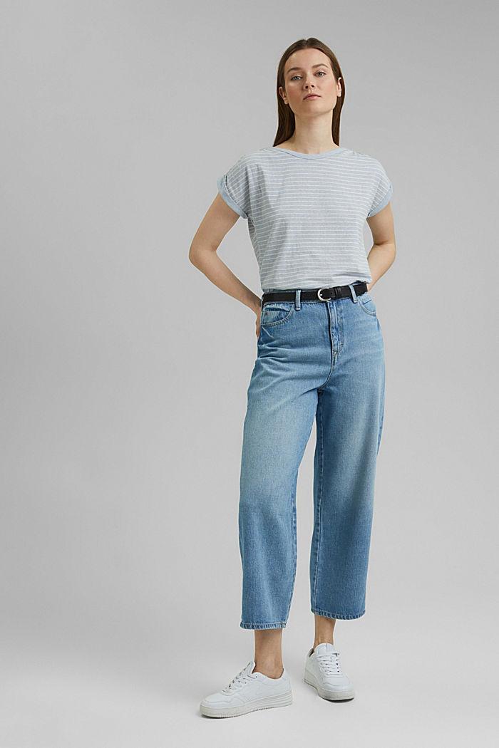Recycelt: gestreiftes T-Shirt mit Bio-Baumwolle, LIGHT BLUE, detail image number 1