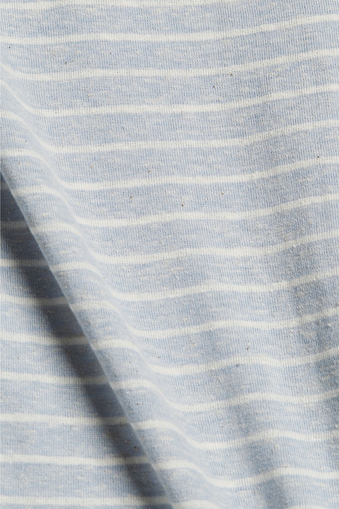 Recycelt: gestreiftes T-Shirt mit Bio-Baumwolle, LIGHT BLUE, detail image number 4
