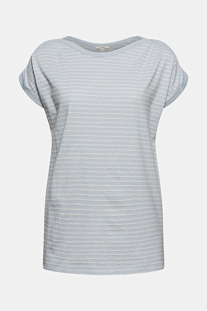 Recycelt: gestreiftes T-Shirt mit Bio-Baumwolle, LIGHT BLUE, detail image number 7