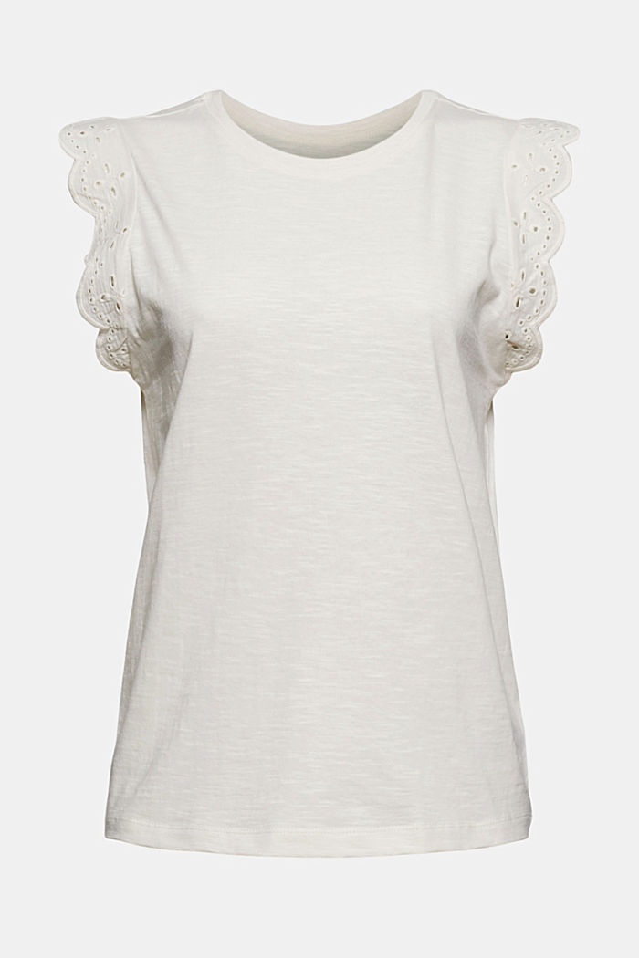 Top with broderie anglaise, organic cotton