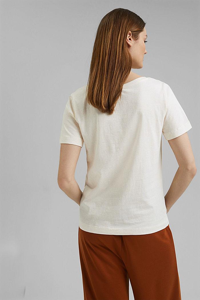 T-Shirt mit Noppen-Struktur, Organic Cotton, OFF WHITE, detail image number 3