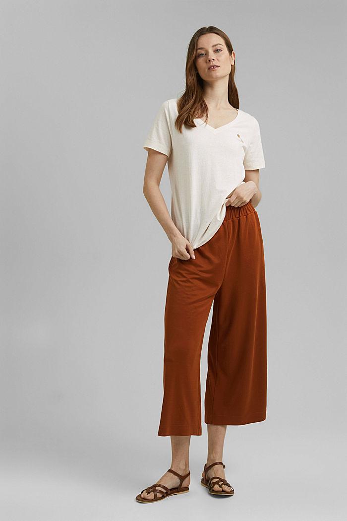 T-Shirt mit Noppen-Struktur, Organic Cotton, OFF WHITE, detail image number 1