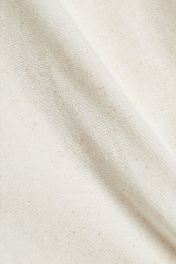 T-Shirt mit Noppen-Struktur, Organic Cotton, OFF WHITE, detail image number 4
