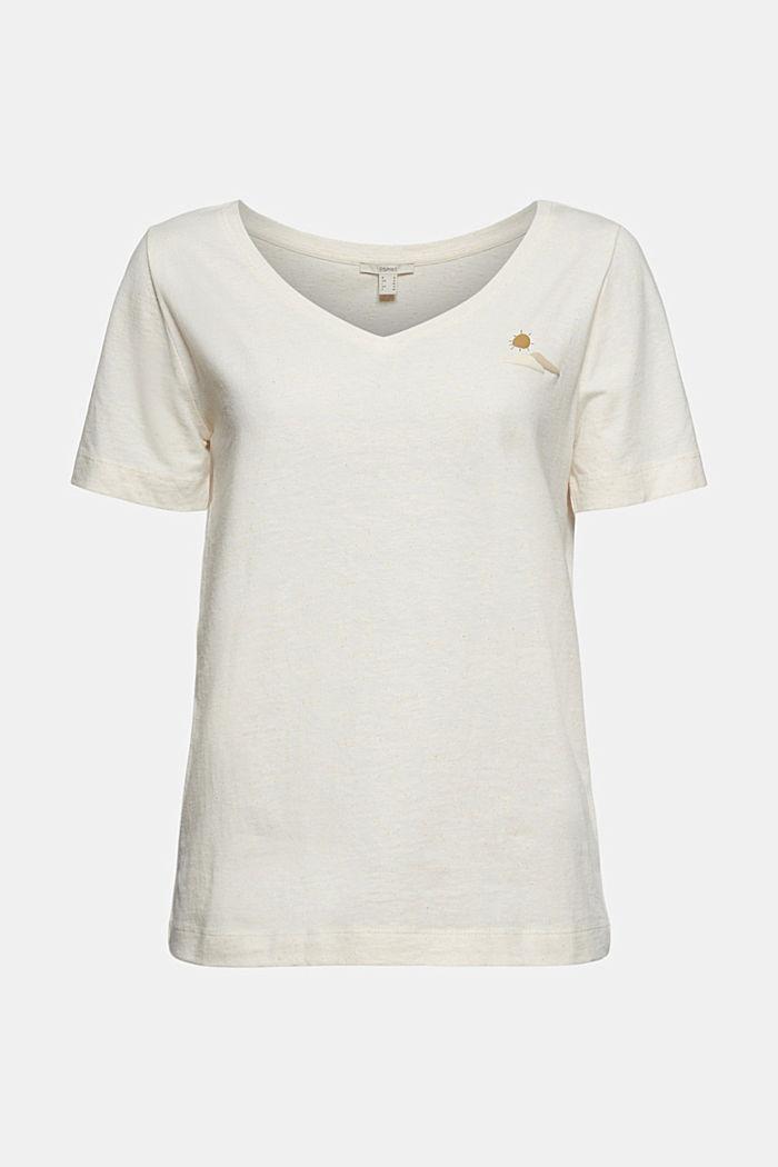 T-Shirt mit Noppen-Struktur, Organic Cotton, OFF WHITE, detail image number 5