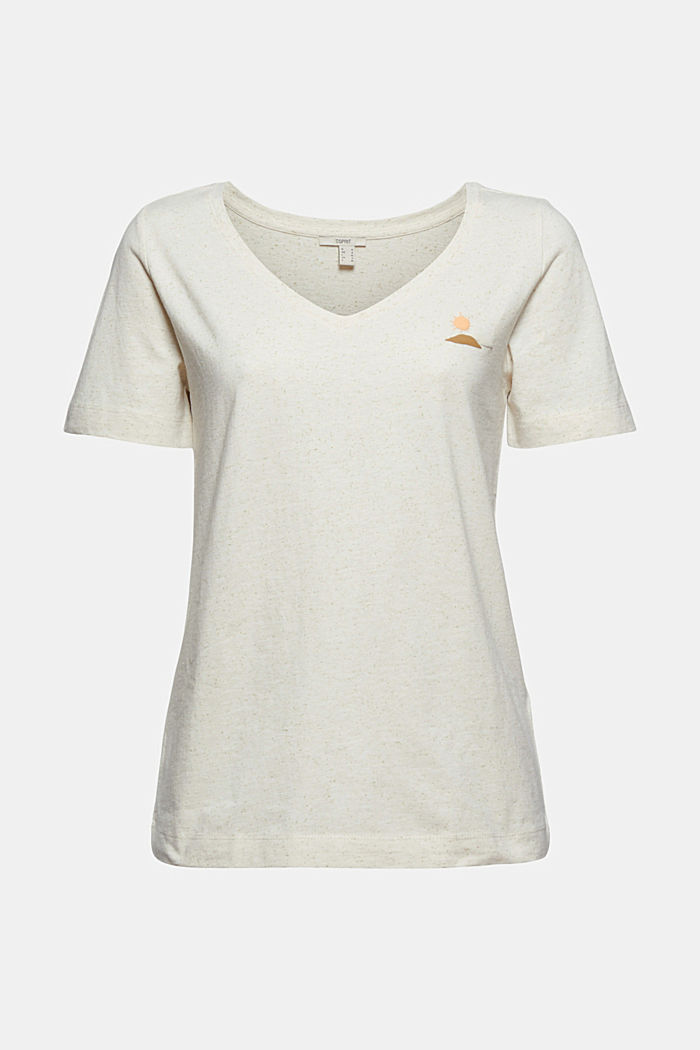 Organic cotton T-shirt with a dimpled texture, SAND, detail image number 6