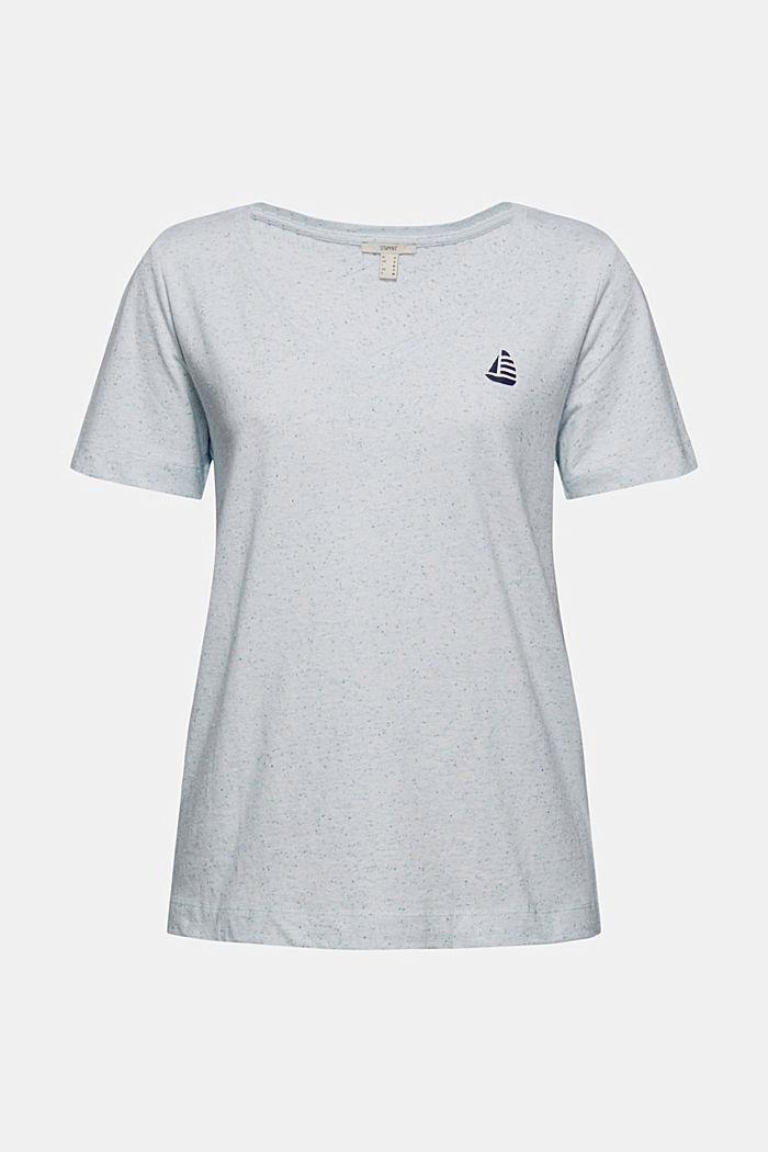 T-Shirt mit Noppen-Struktur, Organic Cotton, LIGHT BLUE, detail image number 5