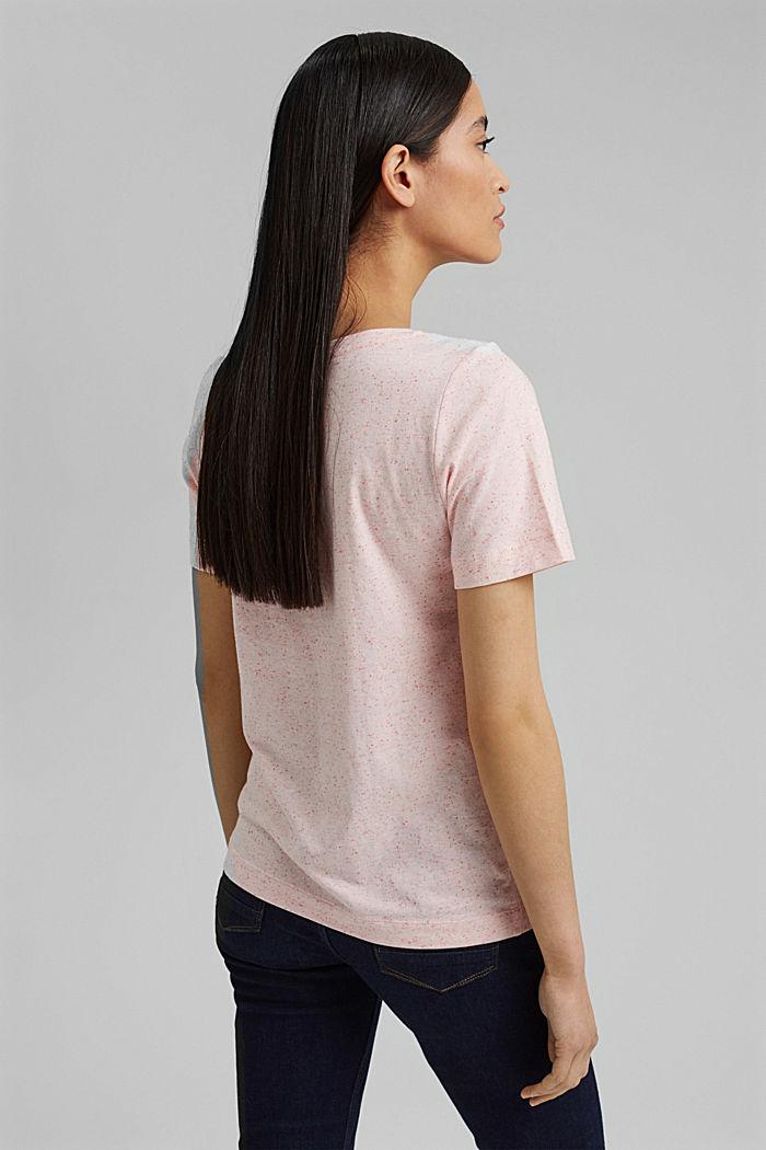 Nyppykohopintainen T-paita luomupuuvillaa, CORAL, detail image number 3