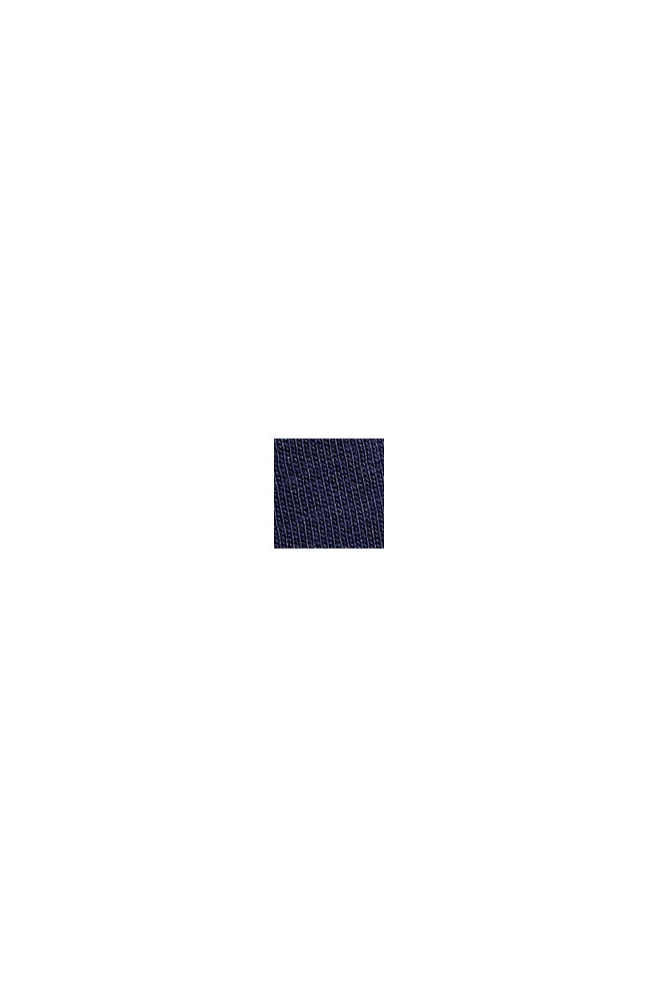 Boxy Logo-Shirt aus 100% Bio-Baumwolle, NAVY, swatch