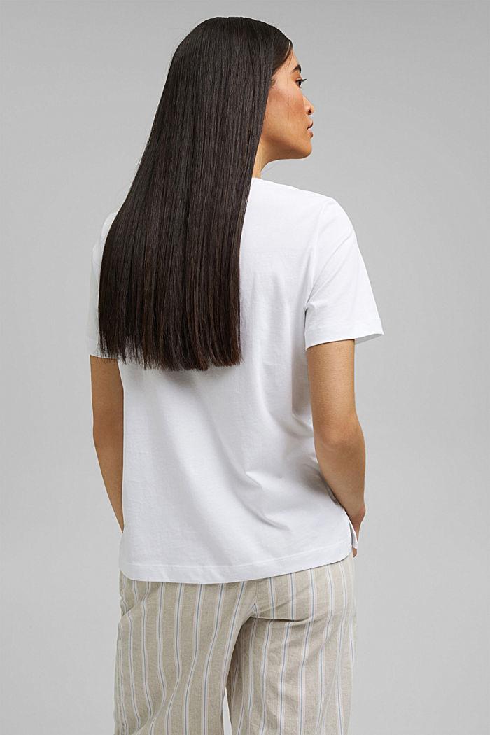 Printed T-shirt, 100% organic cotton, WHITE, detail image number 3