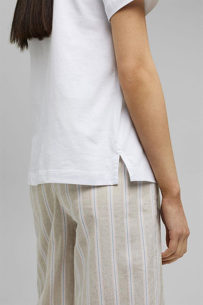 Printed T-shirt, 100% organic cotton, WHITE, detail image number 5