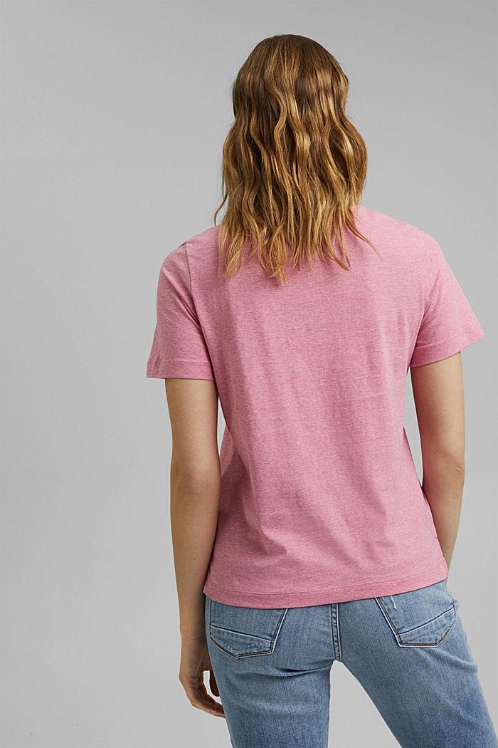 T-Shirt mit Print, Organic Cotton, PINK, detail image number 3