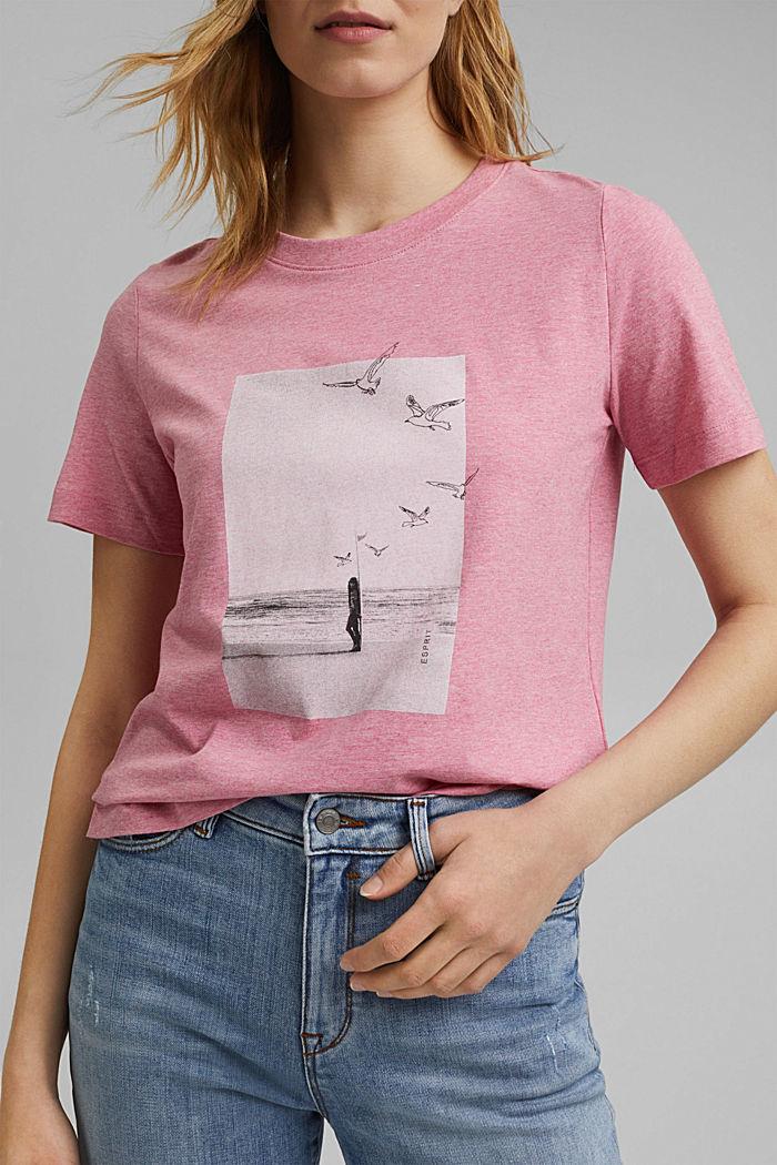 T-Shirt mit Print, Organic Cotton, PINK, detail image number 5