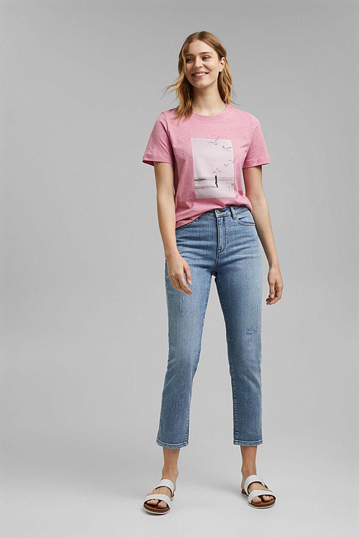 T-Shirt mit Print, Organic Cotton, PINK, detail image number 1