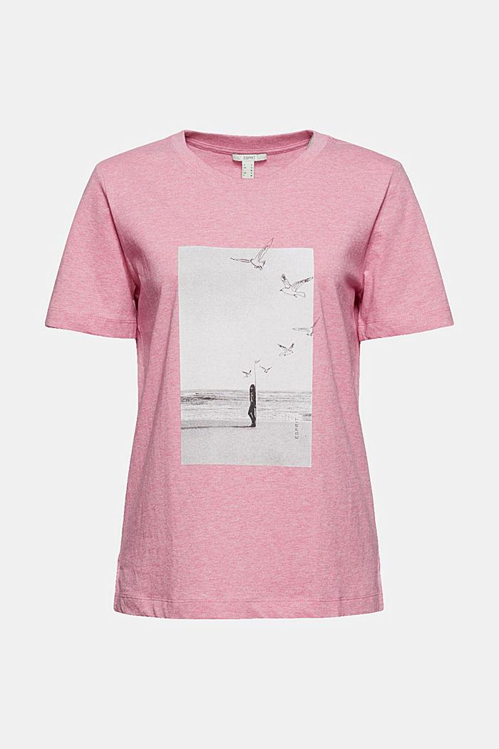 T-Shirt mit Print, Organic Cotton, PINK, detail image number 6