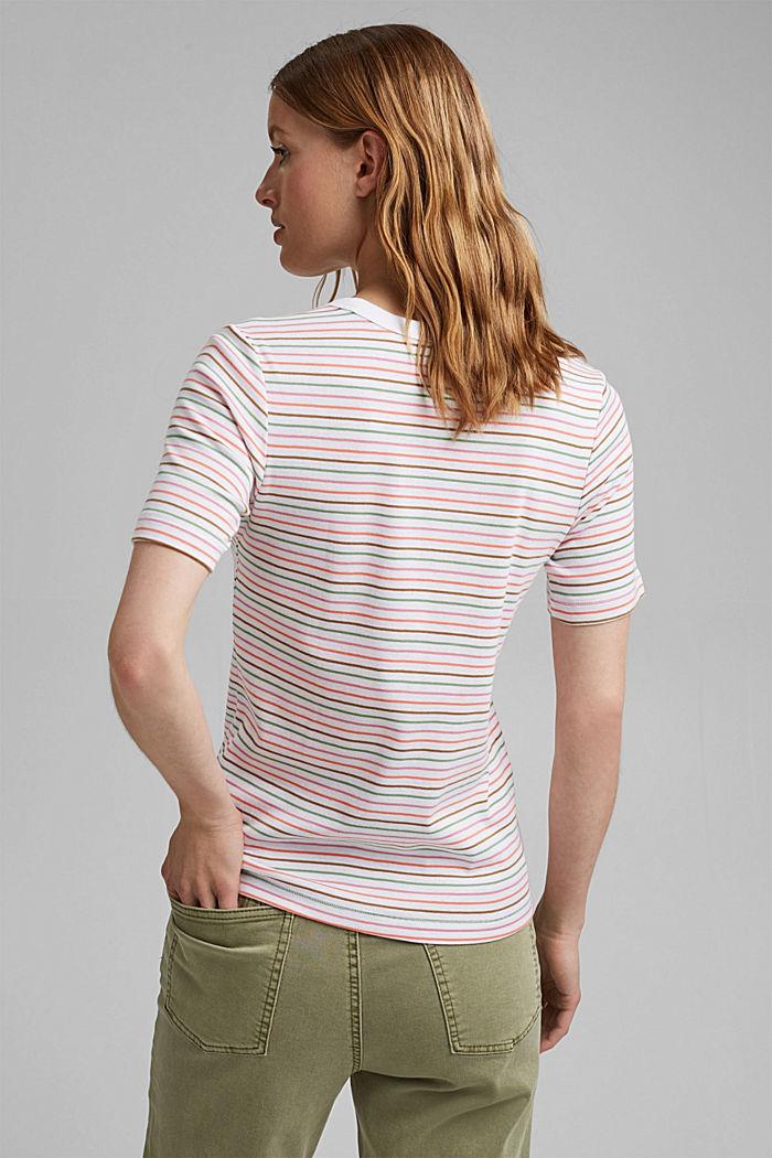 Streifen-Shirt aus 100% Bio-Baumwolle, WHITE, detail image number 3