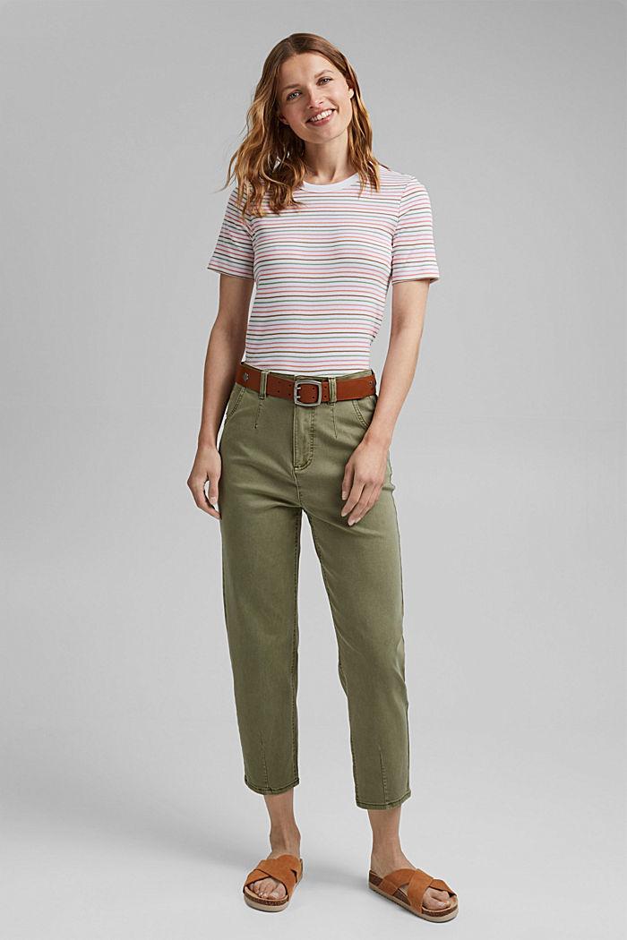 Streifen-Shirt aus 100% Bio-Baumwolle, WHITE, detail image number 1