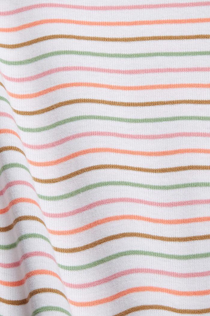 Streifen-Shirt aus 100% Bio-Baumwolle, WHITE, detail image number 4