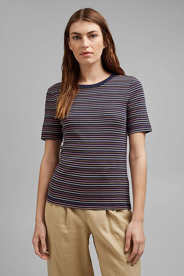 Streifen-Shirt aus 100% Bio-Baumwolle, NAVY, detail image number 0