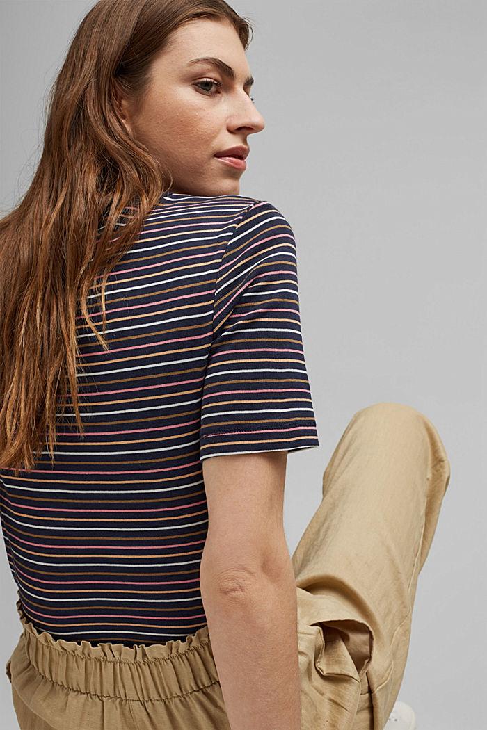 Streifen-Shirt aus 100% Bio-Baumwolle, NAVY, detail image number 3