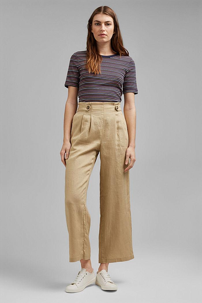 Streifen-Shirt aus 100% Bio-Baumwolle, NAVY, detail image number 1
